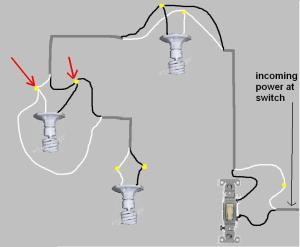 Help With Wiring: 1 Switch Controlling 2 Lights  Electrical  DIY Chatroom Home Improvement Forum