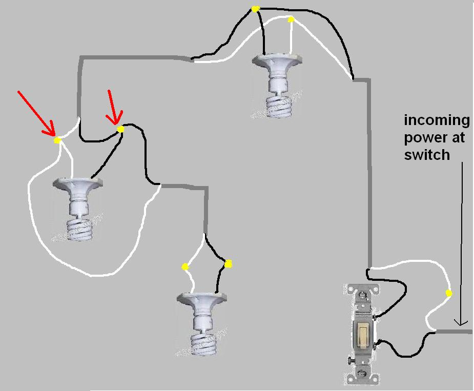 electrical wiring diagram two lights one switch for chinese 110 atv 3 wire power from 1 to 2 manual e books schematic diagramwiring a schema