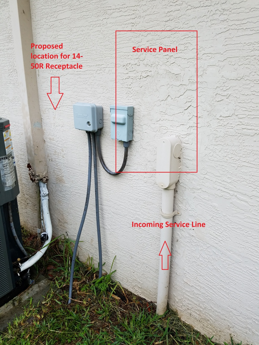 hight resolution of wiring an outdoor 14 50r receptacle interlock project1 jpg