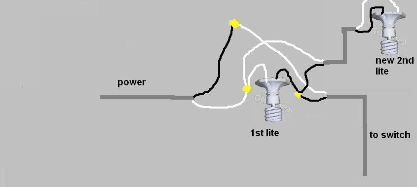 electrical wiring diagram two lights one switch simplex duct detector 2098 multiple to how run wire