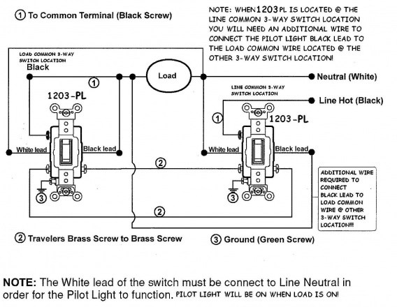 Wiring Diagram For Three Way Switches With Pilot Light