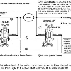 3 Way Switch Wiring Diagram Leviton Piano Keyboard With Notes For Three Switches Pilot Light Electrical