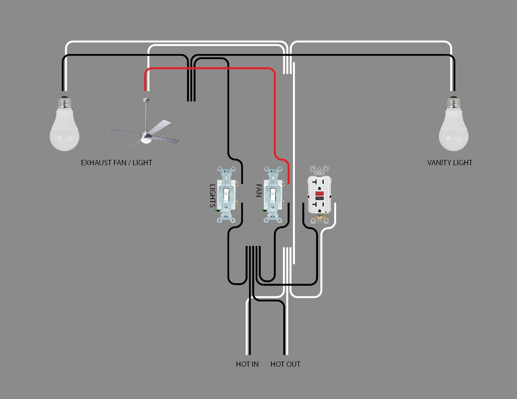 Bathroom Lighting Wiring Diagram