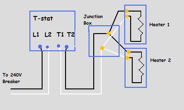 Heater Wiring Diagram Heater Wiring Diagram 240v Wiring Diagrams