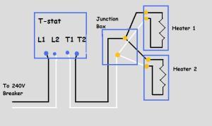 240v Electric Baseboard Heat Wiring Diagram  Electrical