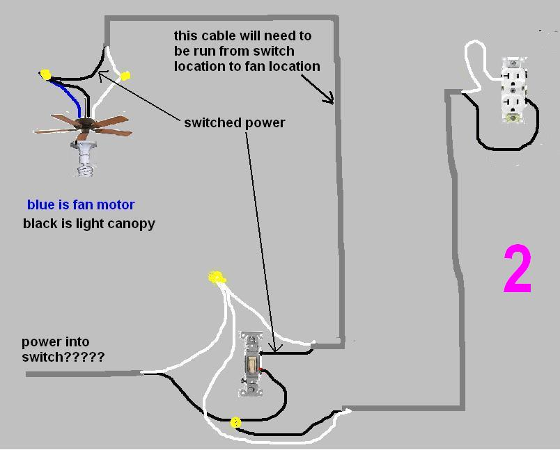 How To Wire A Switch From An Existing Box To A Ceiling