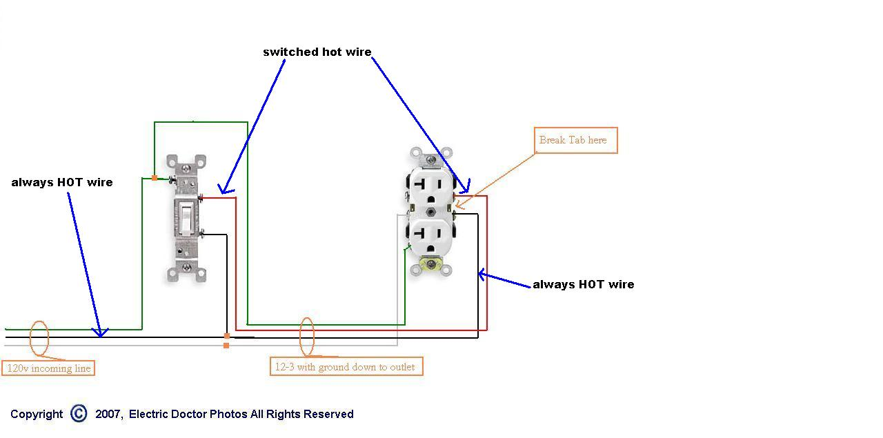 wiring diagram for half switched outlet 2004 pontiac sunfire stereo problem replacing a hot receptacle. please help - electrical page 2 diy chatroom home ...