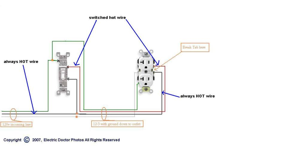 medium resolution of problem replacing a half hot receptacle please help electrical rh diychatroom com hot tub wiring diagram hot tub wiring diagram