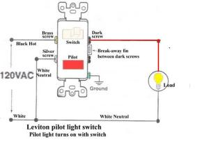 How To Wire A Switch With A Pilot Light  Electrical  DIY Chatroom Home Improvement Forum