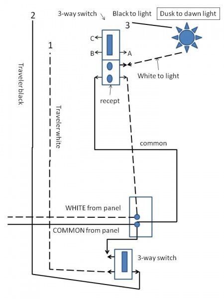 wiring diagram for light switches
