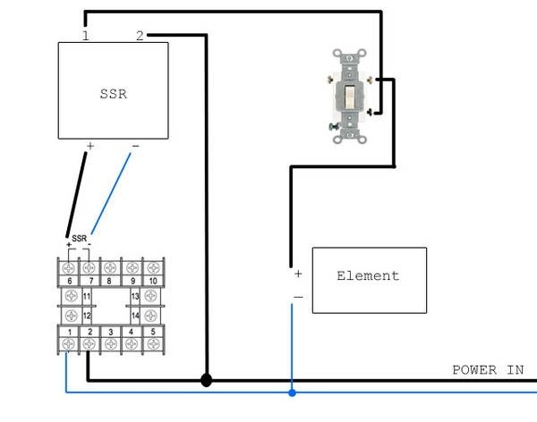 Wiring Diagram For 240v Ssr To Heating Element : 46 Wiring