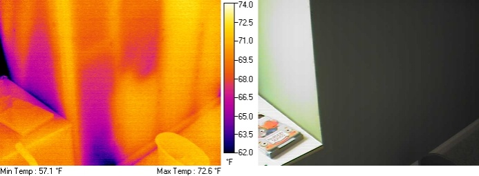 FLIR Thermal Imaging Scan  Insulation Issues  Building
