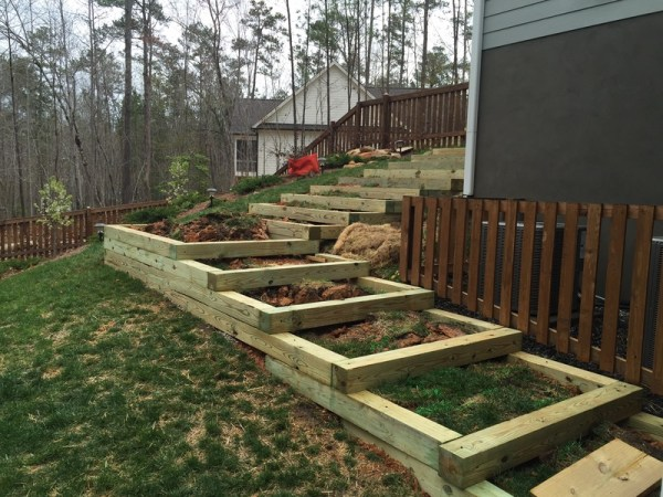 fill timber steps hill