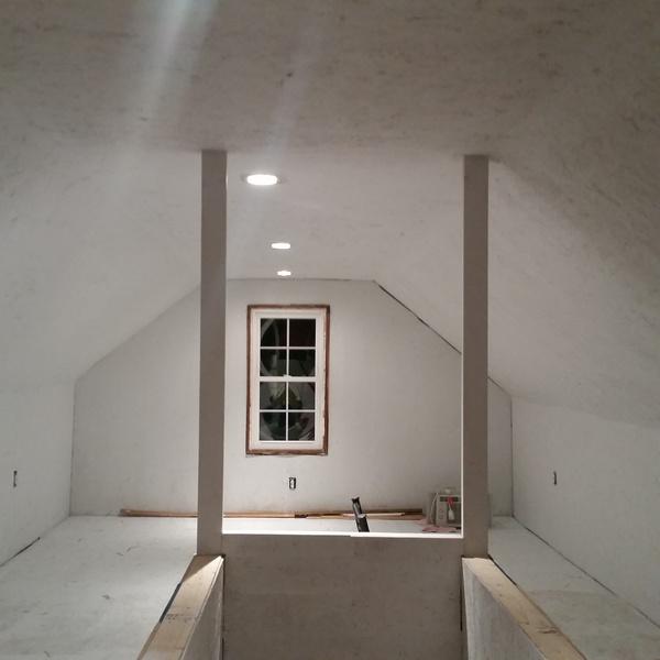 Painting OSB Floors Amp Wall Attic Painting DIY