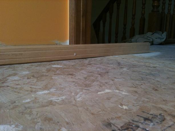 Installing Hardwood Uneven Floor  Flooring  DIY