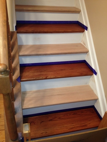 Pre Stain Red Oak Before Staining Flooring Diy Chatroom Home   Pre Stained Stair Treads   Stain Wood   Luxury   Natural Wood   Step   Gray Wood