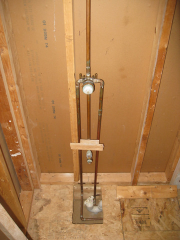 Moving/Installing New Mixing Valve... Issues With Framing