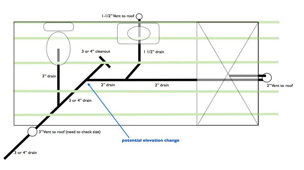 medium resolution of plumbing bathroom limited vertical space bathroom diagram 001 jpg
