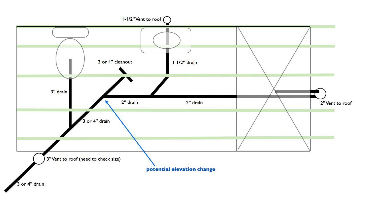 hight resolution of plumbing bathroom limited vertical space bathroom diagram 001 jpg