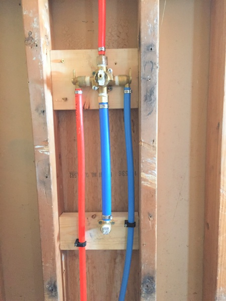 Pex On ShowerTub Rough In Plumbing DIY Home