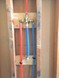 Pex On Shower/Tub Rough In