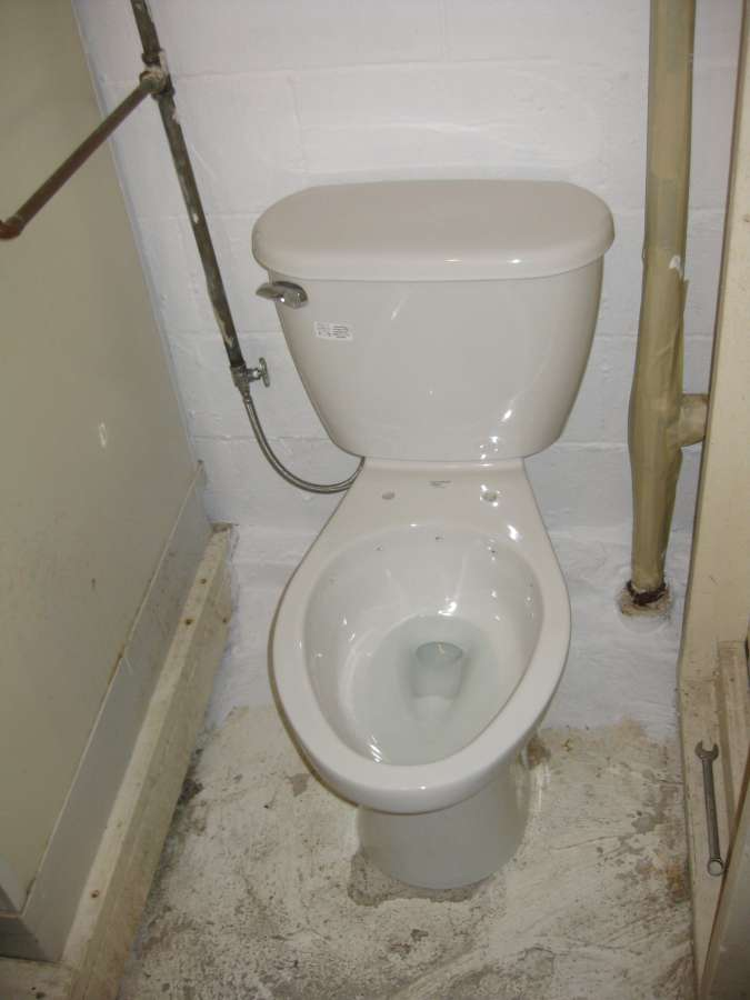 A Closeup Look At The Mansfield Cascade Rimless Toilet