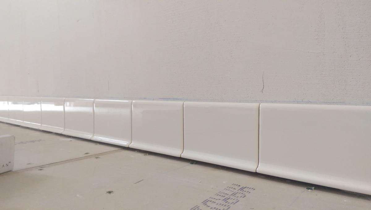cove base tile install diy home