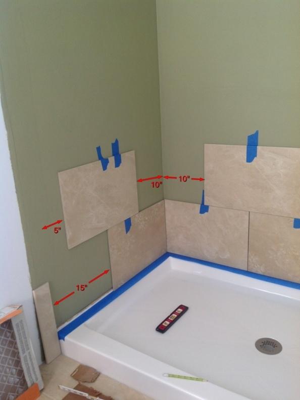 shower tile layout diy home