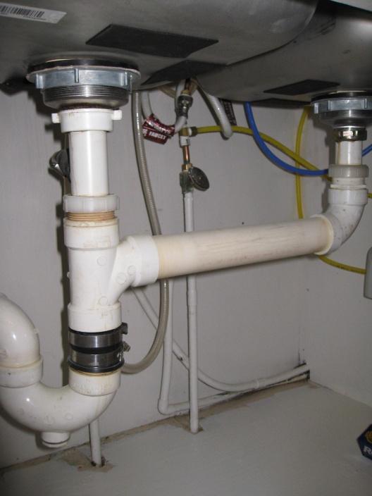 garbage disposal under double sink
