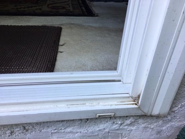 water leak under patio sliding door
