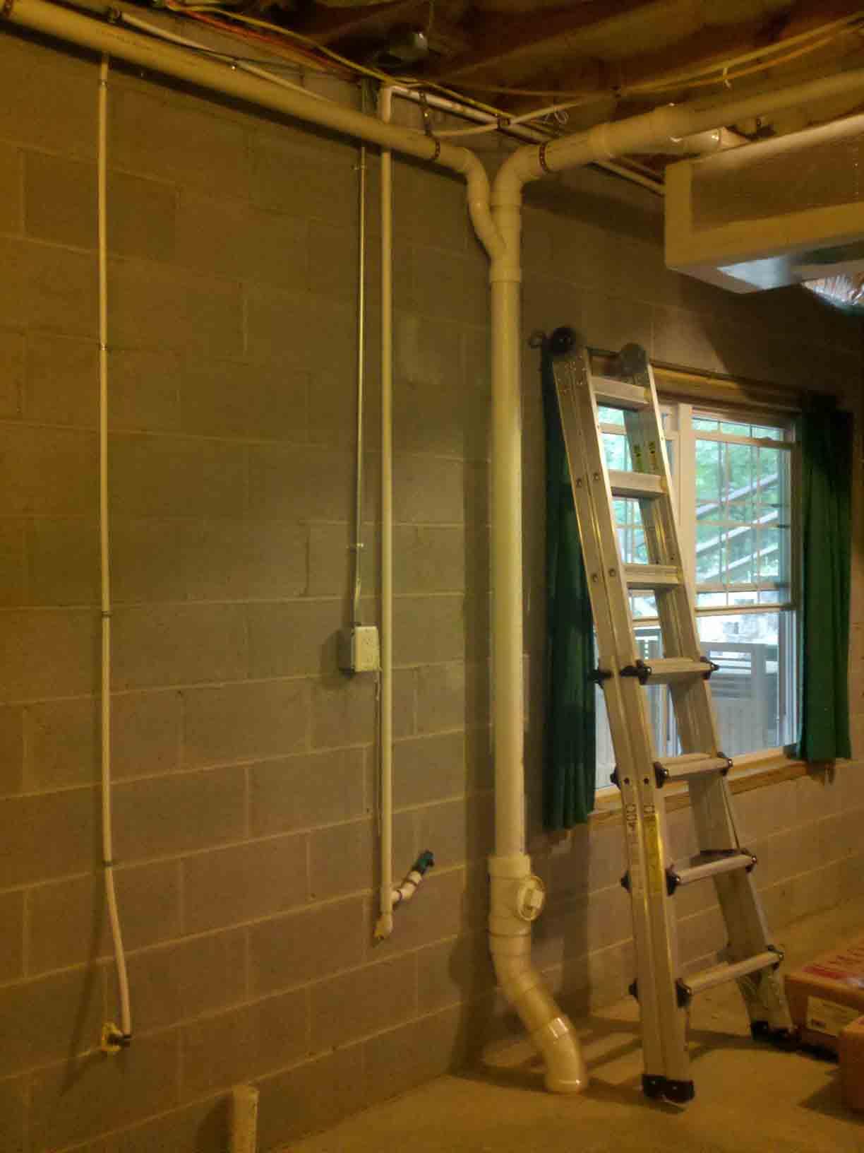 venting basement bathroom diy home
