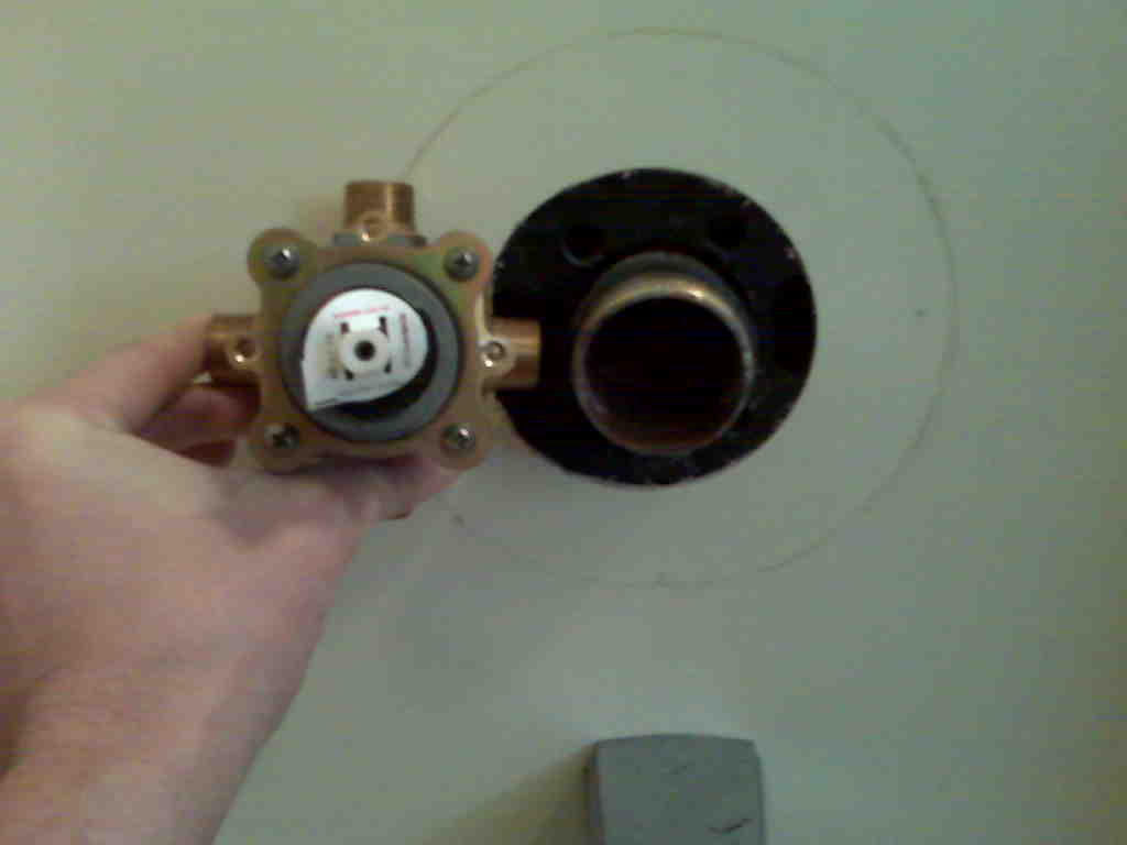 replace a shower valve with no access