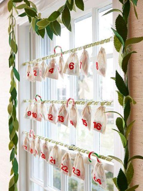 Christmas Window Decor Idea - Advent Calendar
