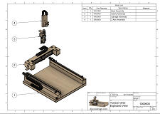A sample page of the cnc router plans.