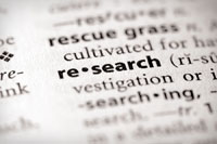 Dictionary defiition of research representing researching colleges