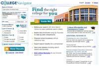 College Navigator landing page