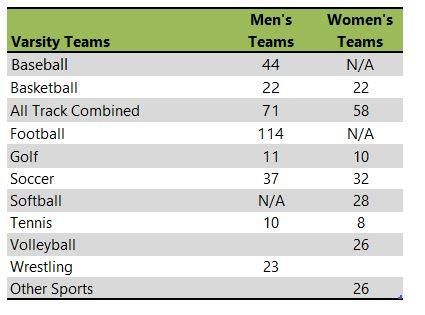 Northwestern College athletic team listing