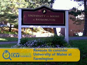 University of Maine at Farmington campus sign