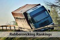 Wrecked truck representing US News College Rankings