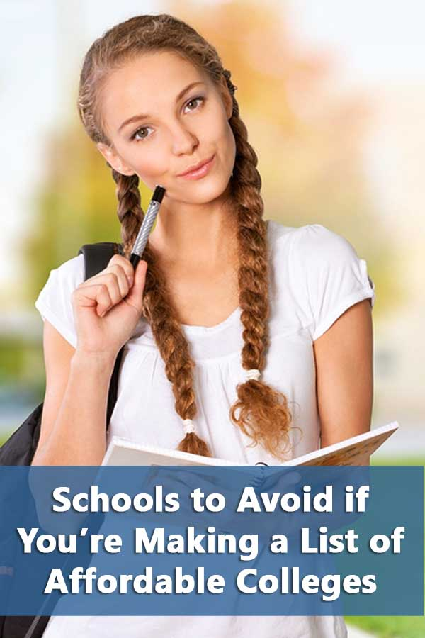 20 Schools to Avoid if You\'re Making a List of Affordable Colleges