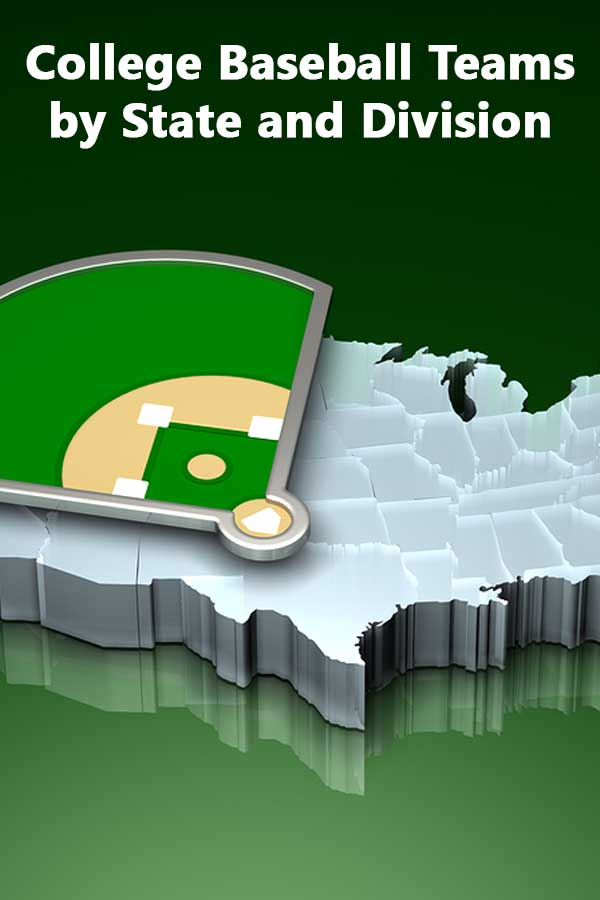 College Baseball Teams By State And Division Do It Yourself - Map showing d3 schools in the us