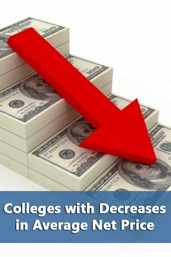 50-50 Highlights: Colleges with Decreases in Average Net Price