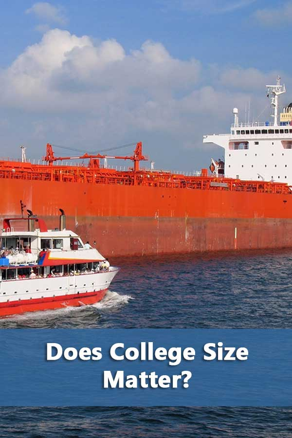Does college size matter and matter to what?