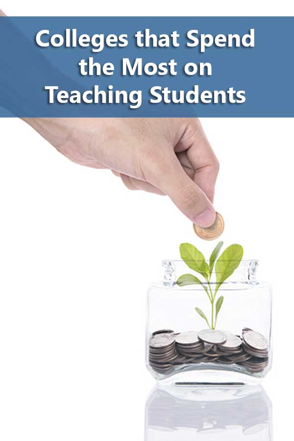 Listing of Colleges that spend the most on teaching students that accept at least 50% of students and have at least a 50% graduation rate.
