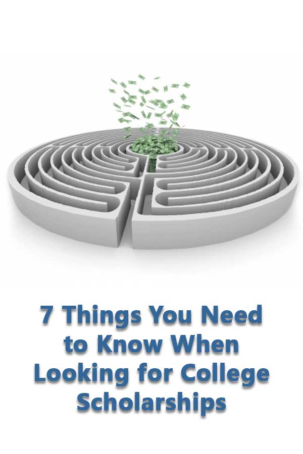 Explains how to find scholarships to help pay for college and issues using scholarship search websites.
