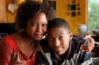 Mother and son learning preparing for college