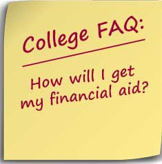 Note asking How will I get my financial aid?