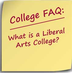 Postit note with question what is a liberal arts college?
