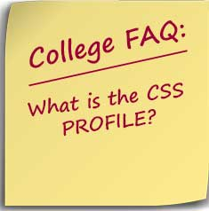 Note asking what are css profile schools