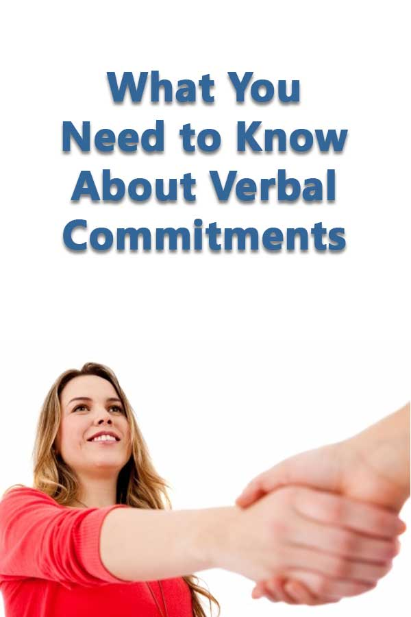 What You Need to Know About Verbal Commitments